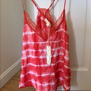 NWT lace top tie dye cami